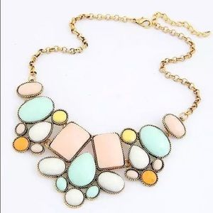 🆕 Colorful Pastel Choker Statement Necklace